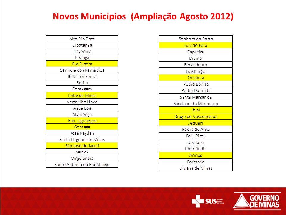 Novos Municípios (Ampliação Agosto 2012)