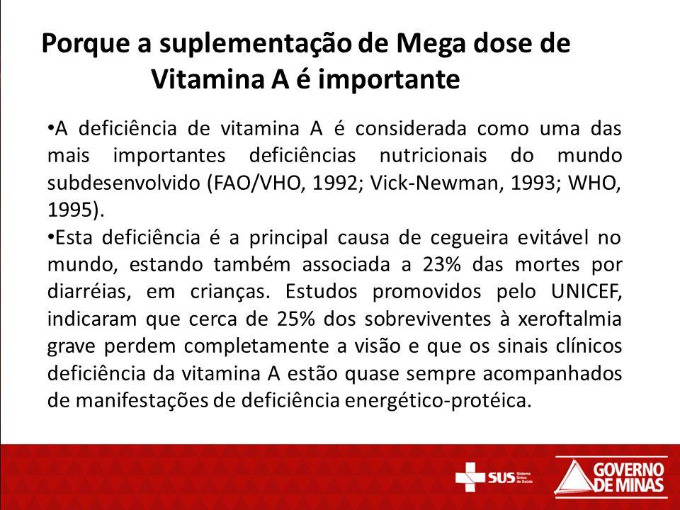 Porque a suplementação de Mega dose de Vitamina A é importante