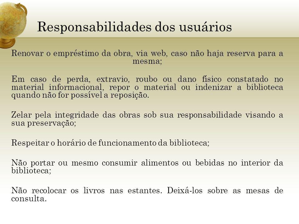 Responsabilidades dos usuários