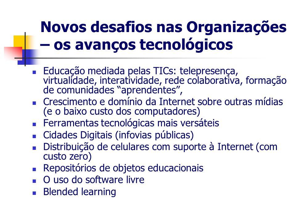 Novos desafios nas Organizações – os avanços tecnológicos