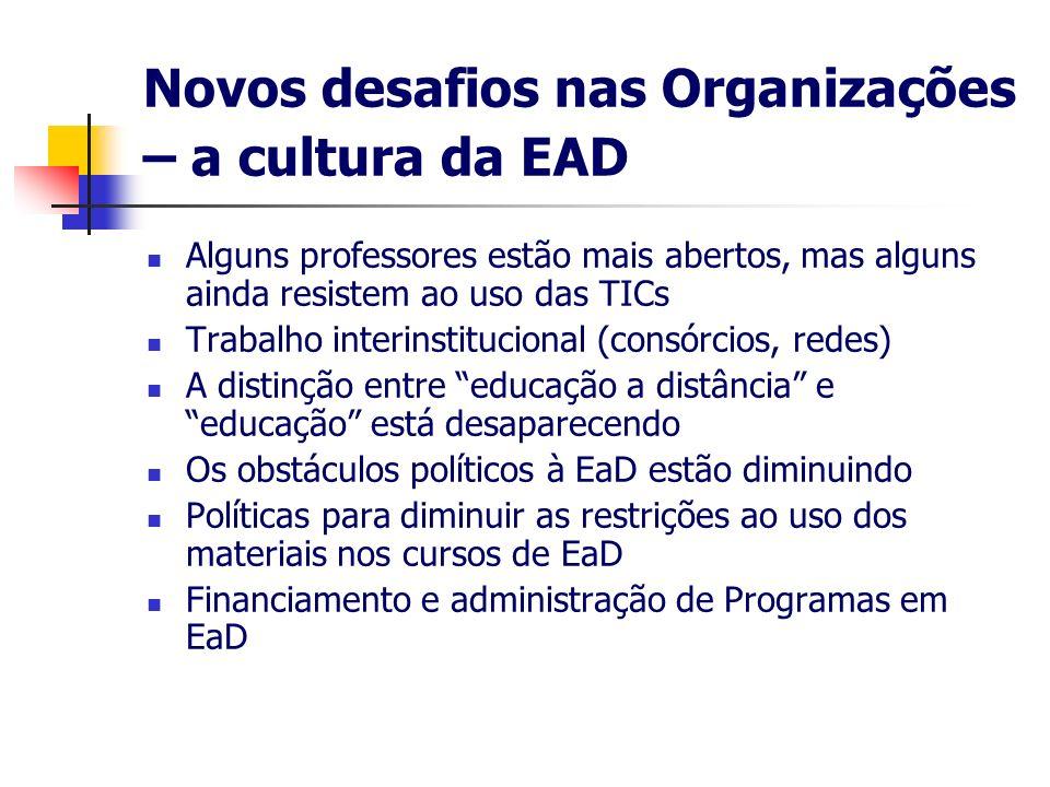 Novos desafios nas Organizações – a cultura da EAD
