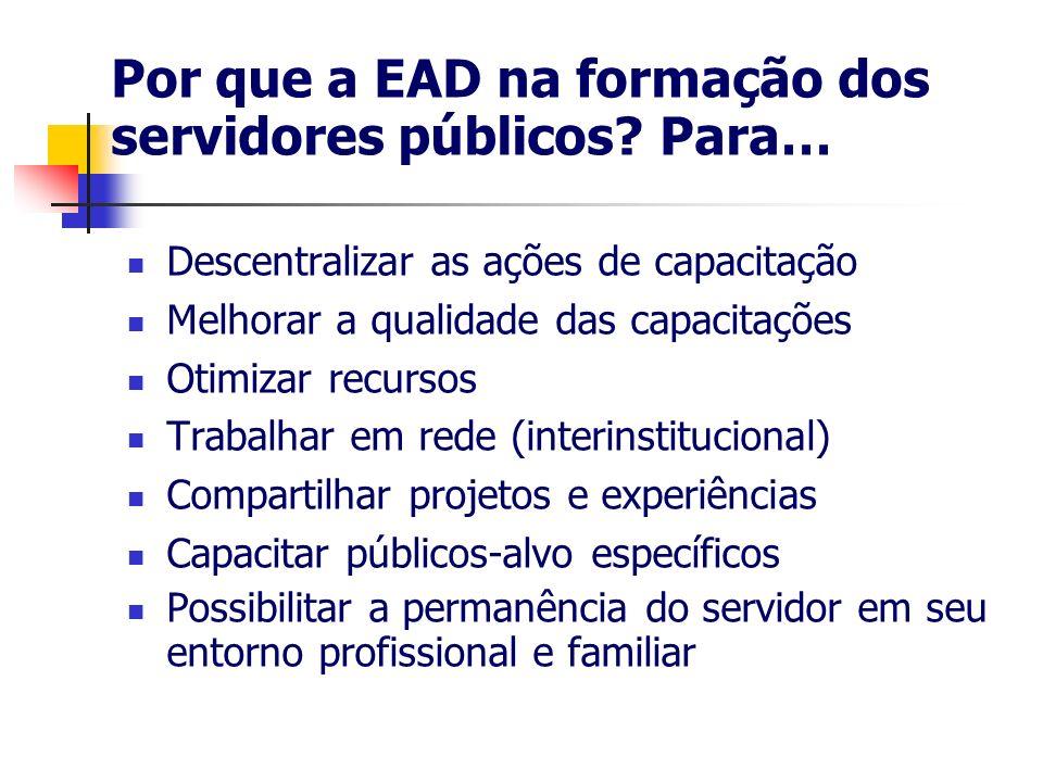 Por que a EAD na formação dos servidores públicos Para…