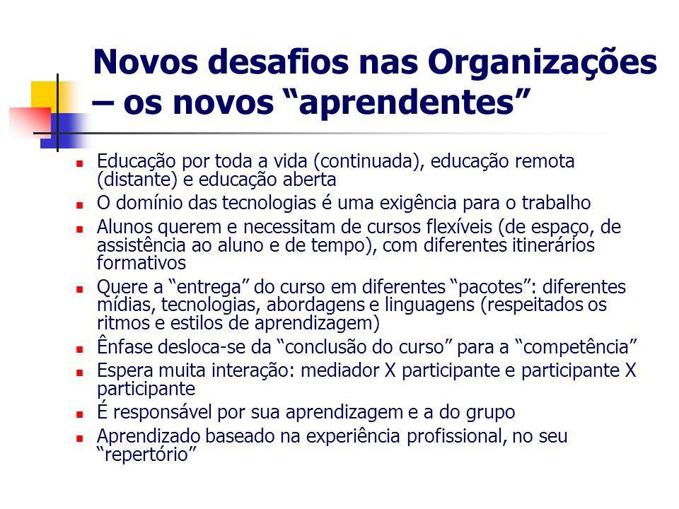 Novos desafios nas Organizações – os novos aprendentes