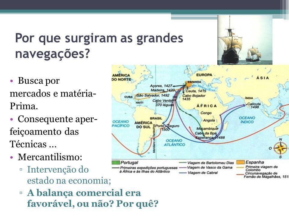 Por que surgiram as grandes navegações