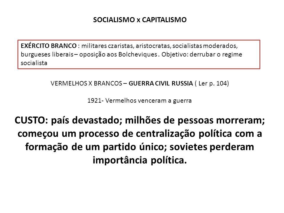 SOCIALISMO x CAPITALISMO