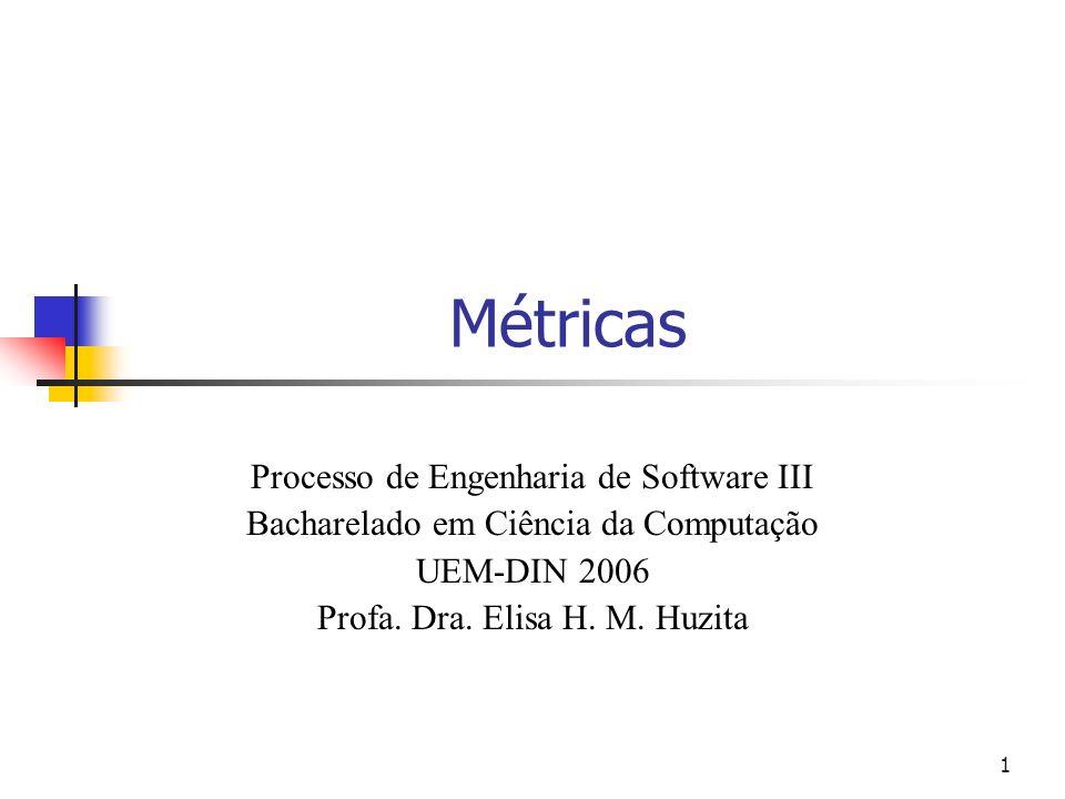 Métricas Processo de Engenharia de Software III