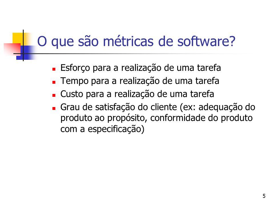 O que são métricas de software