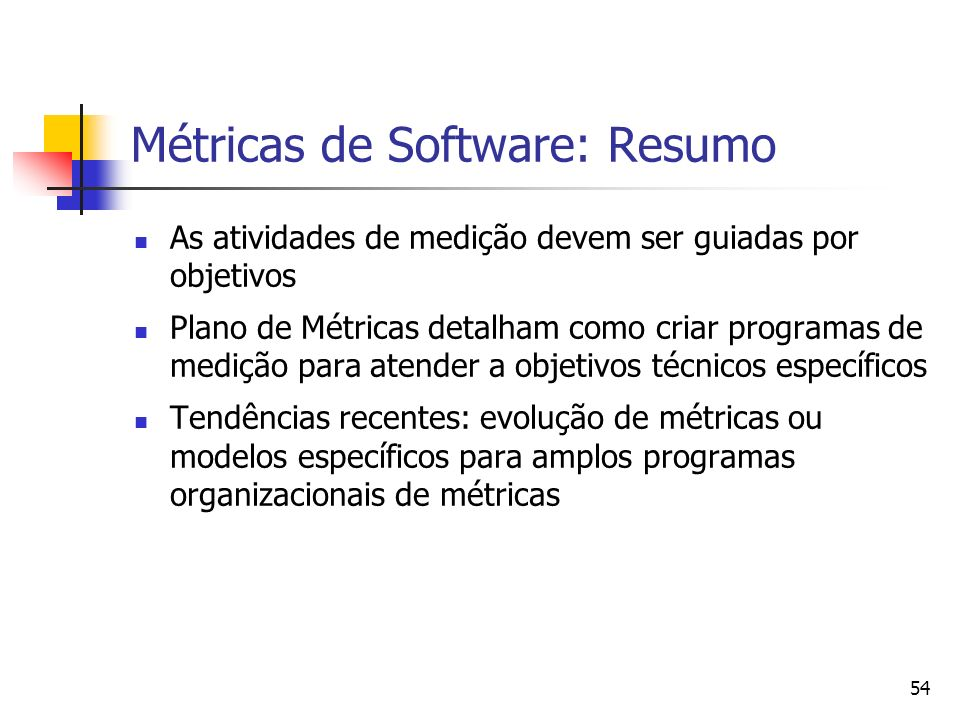 Métricas de Software: Resumo