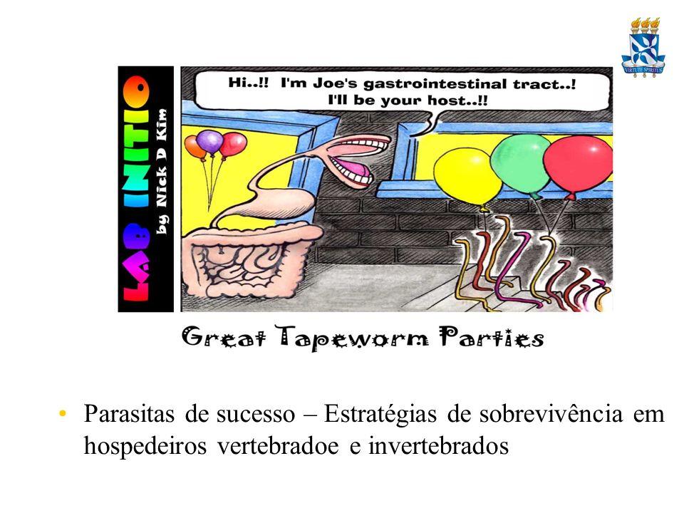 Parasitas de sucesso – Estratégias de sobrevivência em hospedeiros vertebradoe e invertebrados