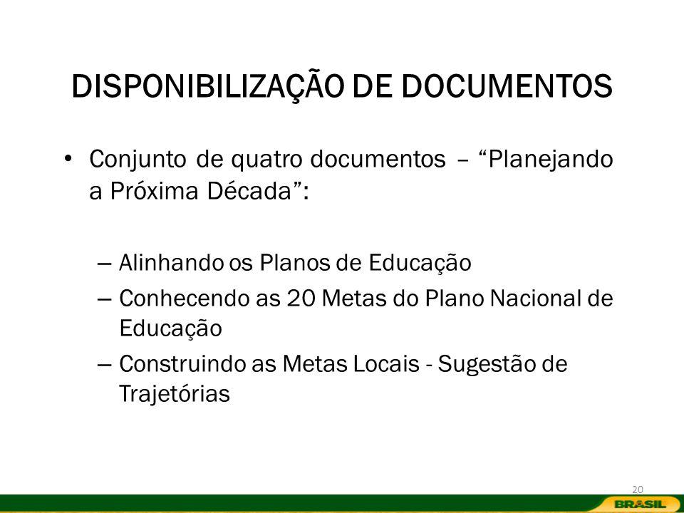 DISPONIBILIZAÇÃO DE DOCUMENTOS