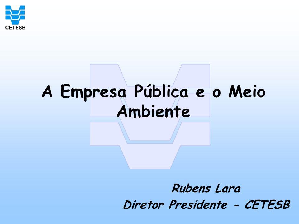 A Empresa Pública e o Meio Ambiente Diretor Presidente - CETESB