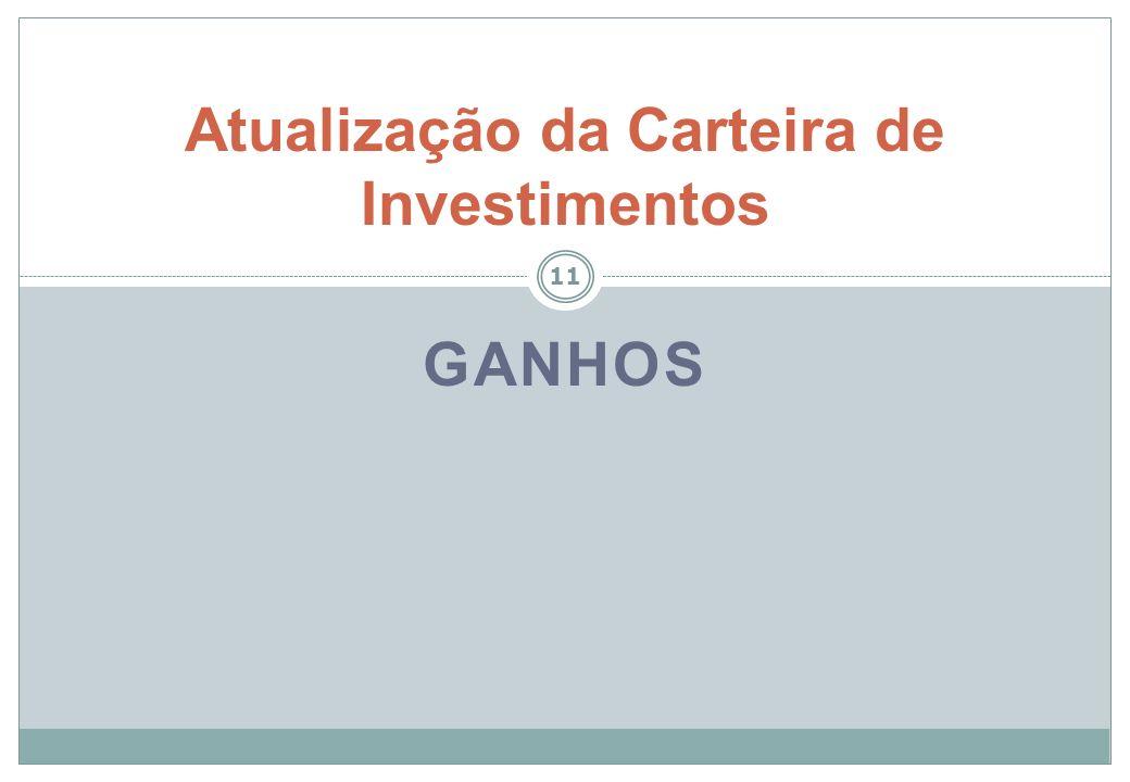 Atualização da Carteira de Investimentos