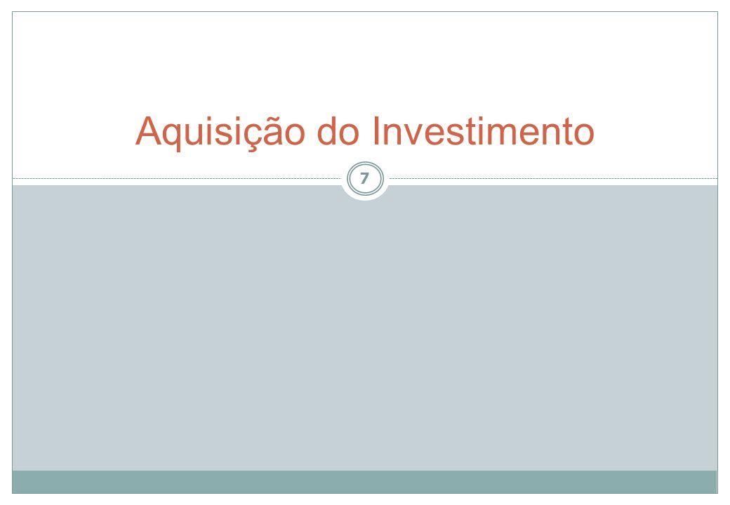 Aquisição do Investimento