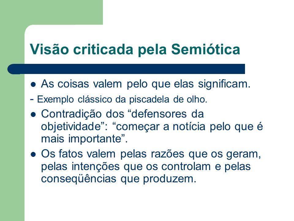 Visão criticada pela Semiótica