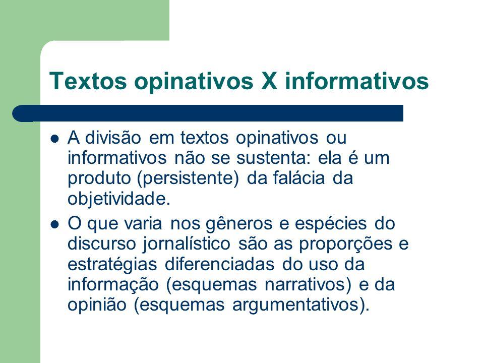 Textos opinativos X informativos
