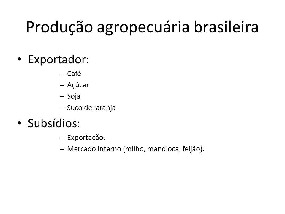 Produção agropecuária brasileira