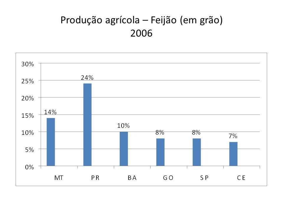 Produção agrícola – Feijão (em grão) 2006