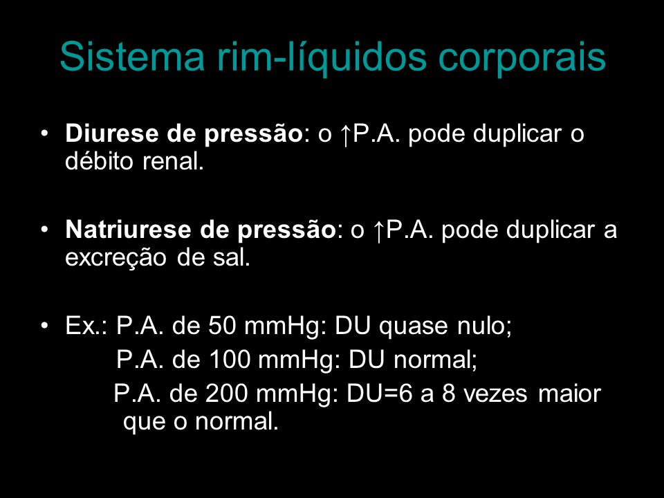 Sistema rim-líquidos corporais