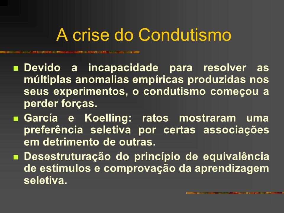 A crise do Condutismo