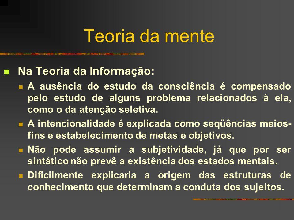 Teoria da mente Na Teoria da Informação: