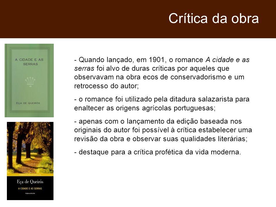 Crítica da obra