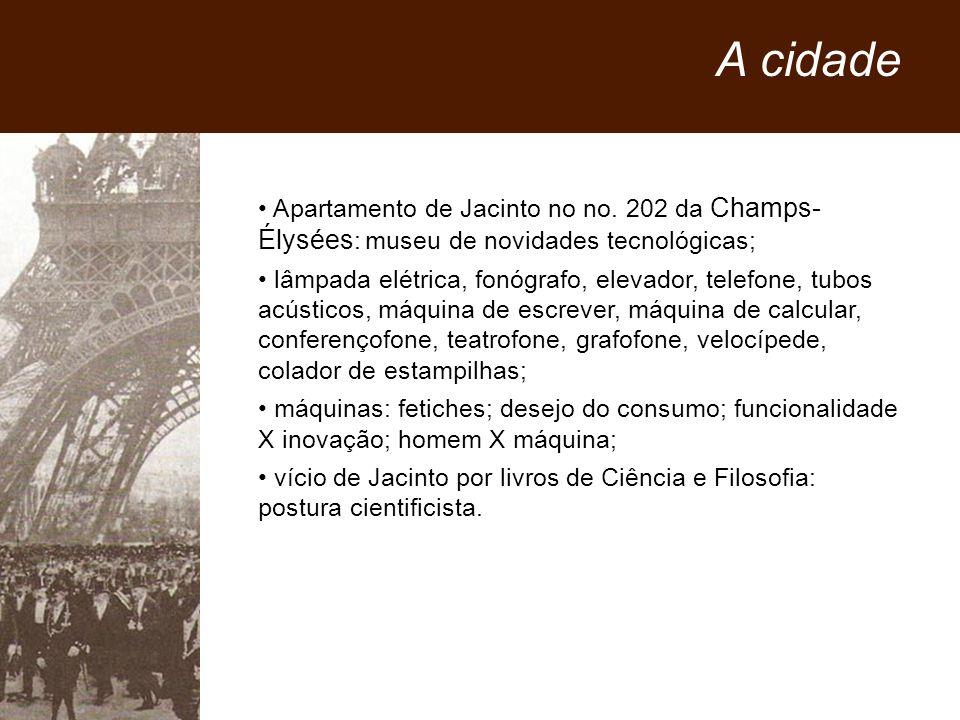 A cidade Apartamento de Jacinto no no. 202 da Champs- Élysées: museu de novidades tecnológicas;