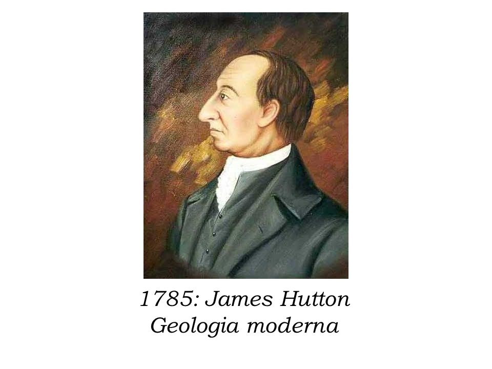 1785: James Hutton Geologia moderna