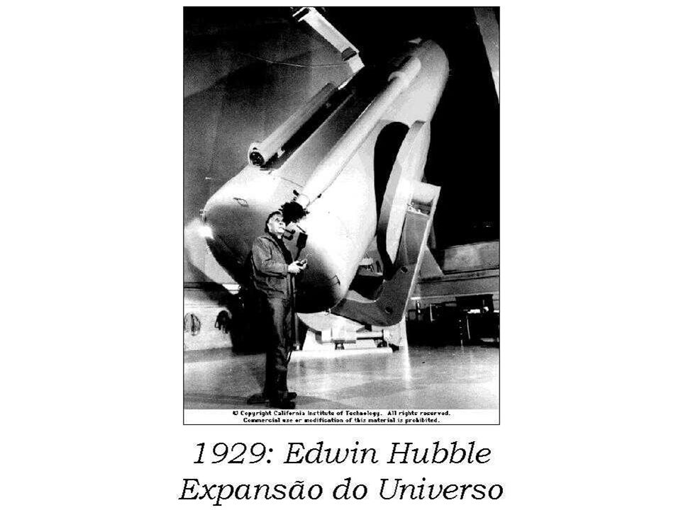 1929: Edwin Hubble Expansão do Universo