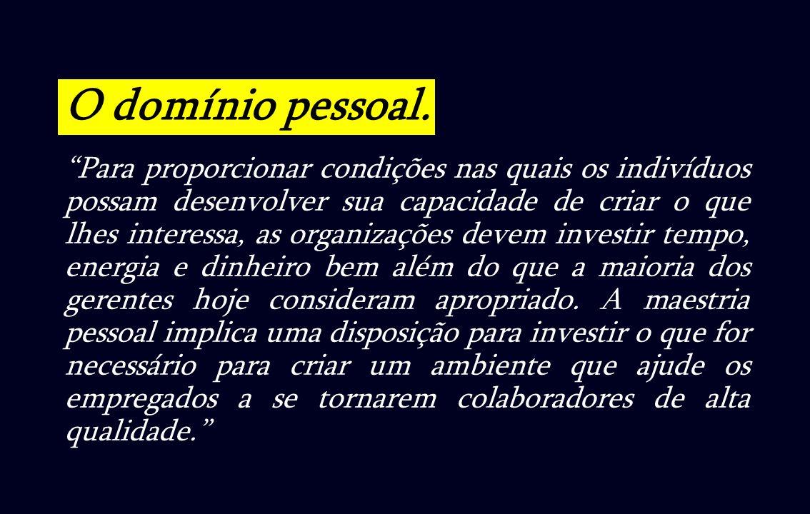 O domínio pessoal.