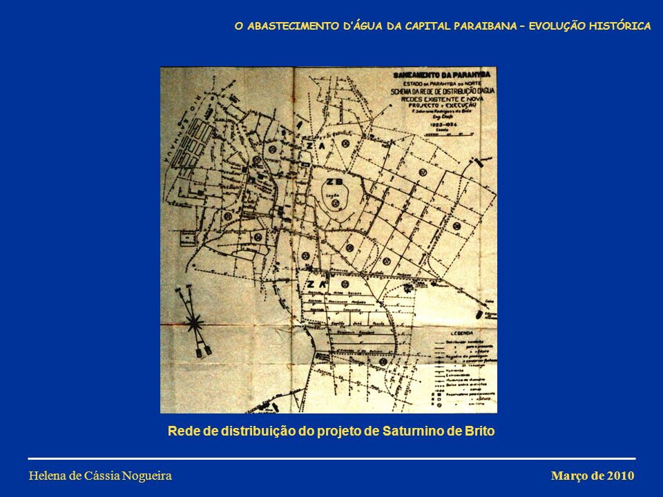 Rede de distribuição do projeto de Saturnino de Brito