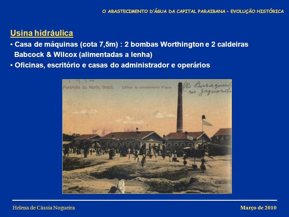 O ABASTECIMENTO D'ÁGUA DA CAPITAL PARAIBANA – EVOLUÇÃO HISTÓRICA