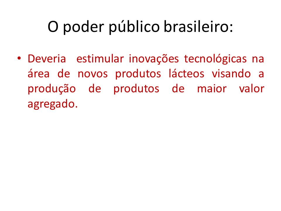 O poder público brasileiro: