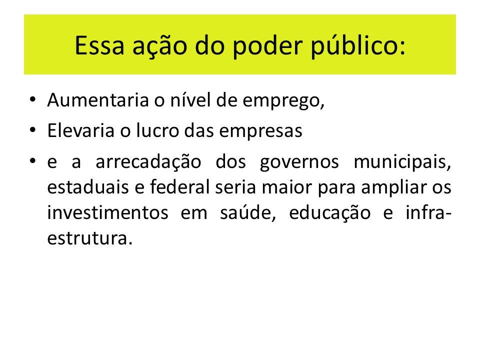 Essa ação do poder público: