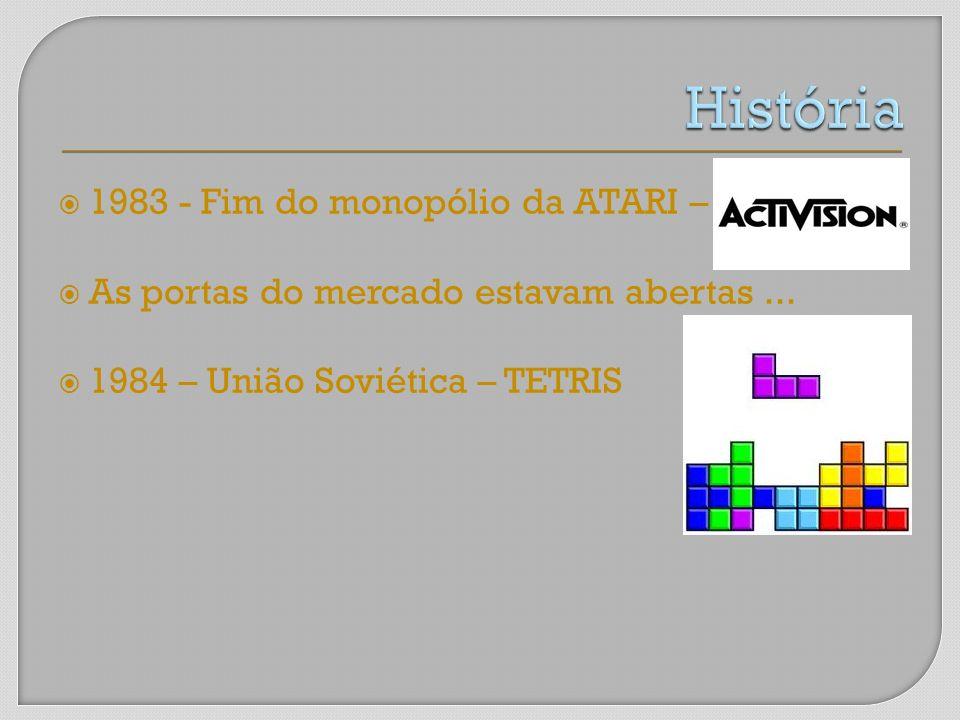 História 1983 - Fim do monopólio da ATARI –