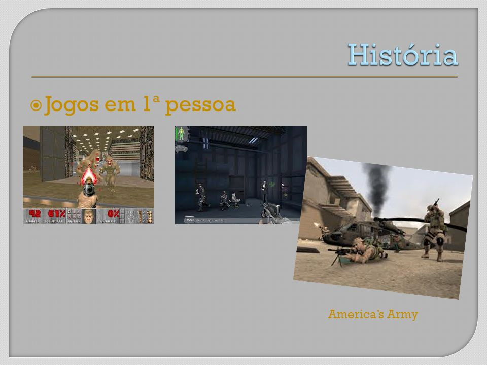 História Jogos em 1ª pessoa America's Army