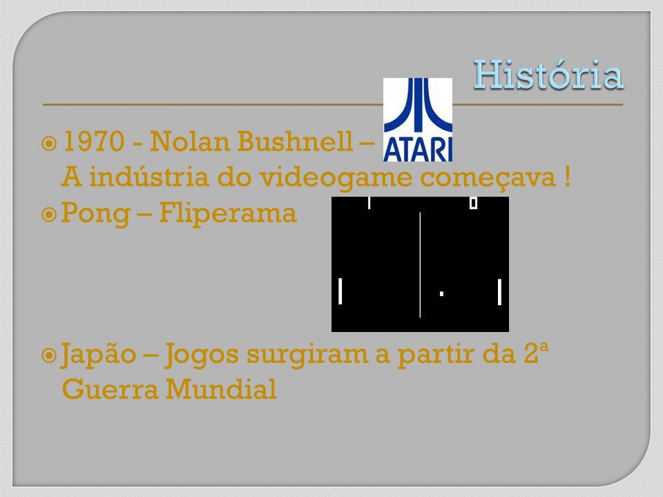 História 1970 - Nolan Bushnell – A indústria do videogame começava !