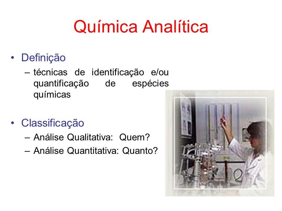 Química Analítica Definição Classificação