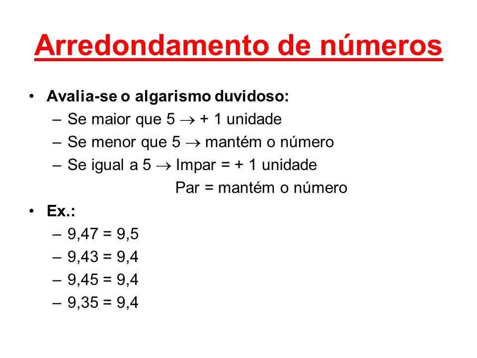 Arredondamento de números