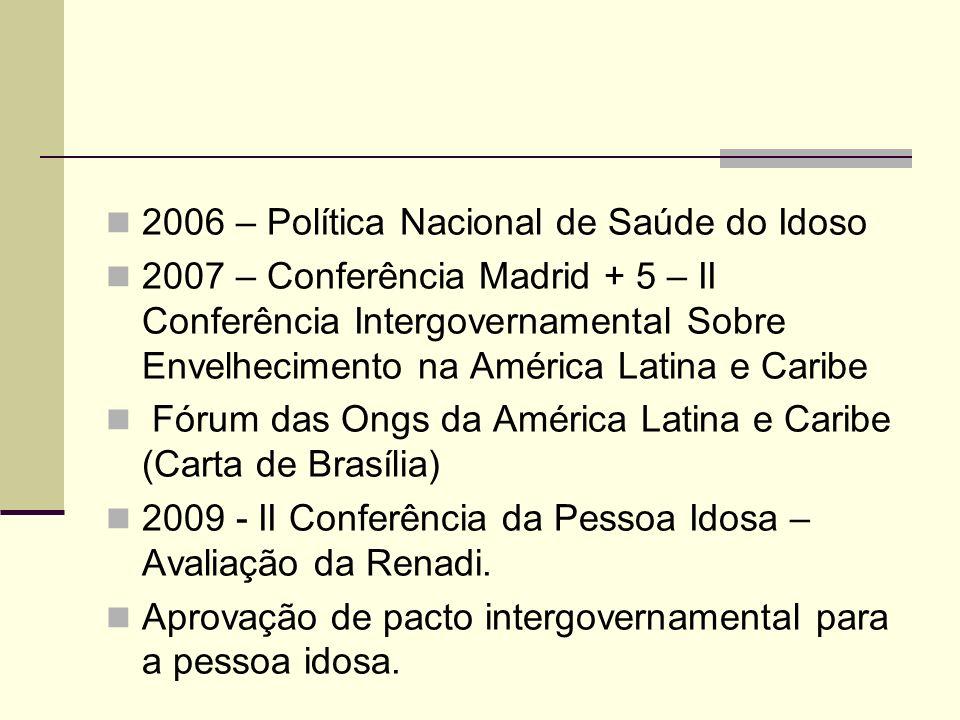 2006 – Política Nacional de Saúde do Idoso