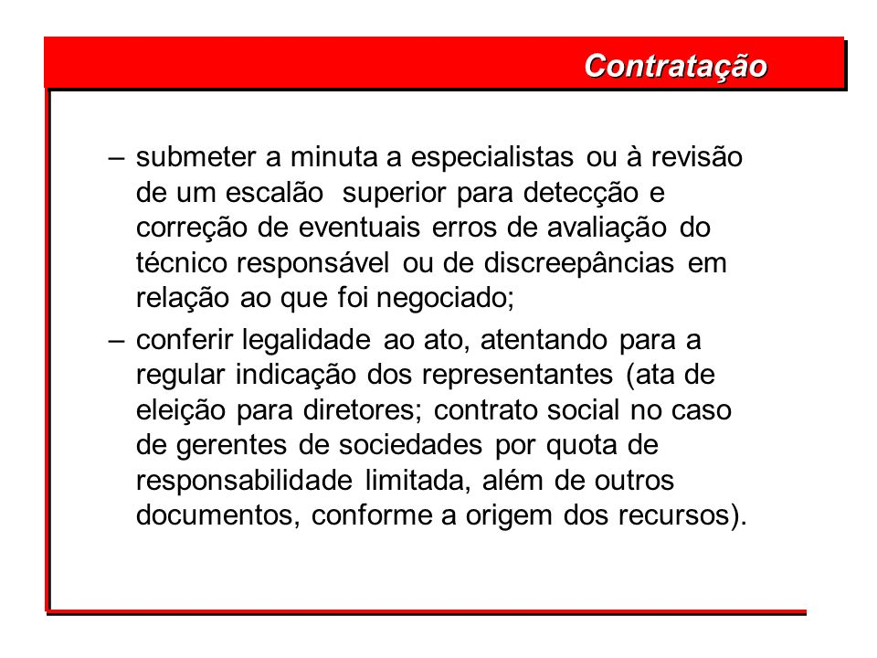 Contratação