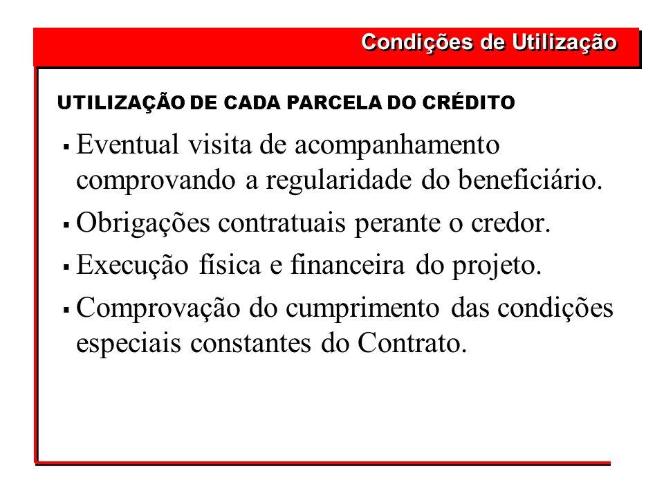 Obrigações contratuais perante o credor.