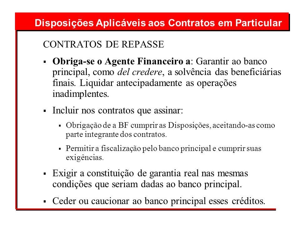Disposições Aplicáveis aos Contratos em Particular