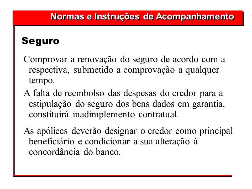 Normas e Instruções de Acompanhamento