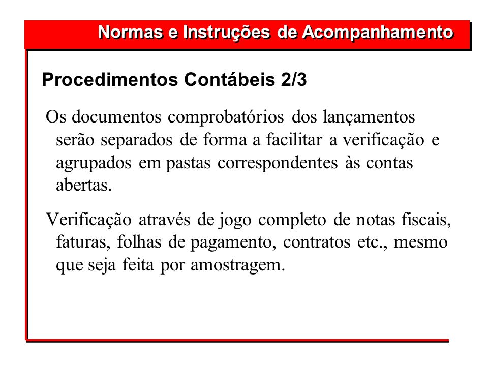 Procedimentos Contábeis 2/3