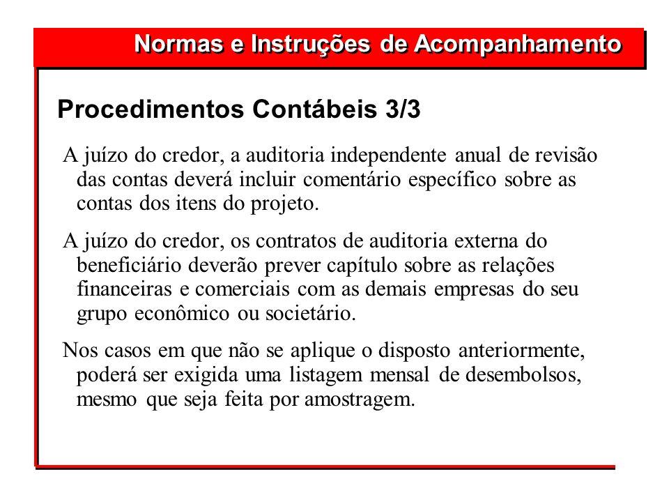 Procedimentos Contábeis 3/3