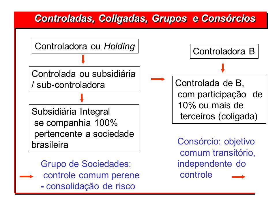 Controladas, Coligadas, Grupos e Consórcios