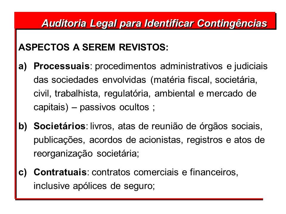 Auditoria Legal para Identificar Contingências