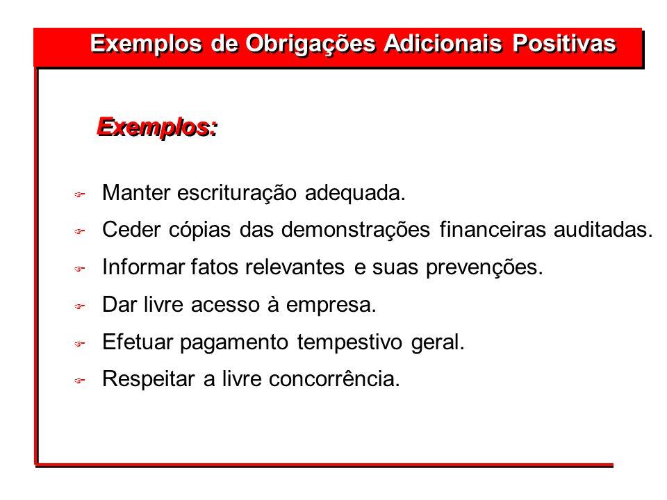 Exemplos de Obrigações Adicionais Positivas