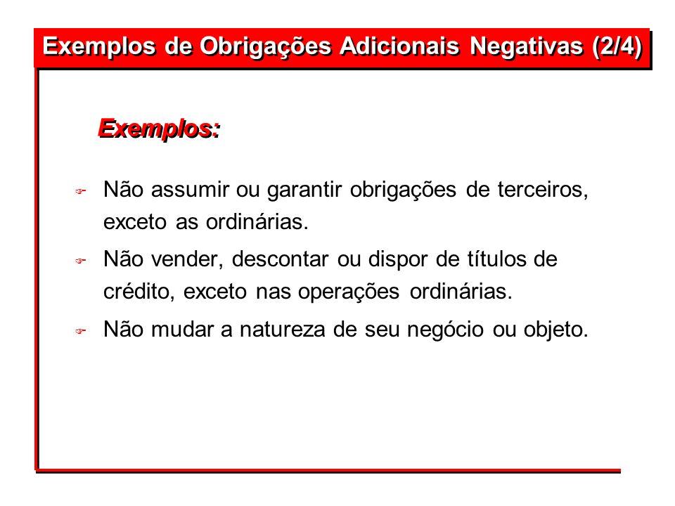 Exemplos de Obrigações Adicionais Negativas (2/4)