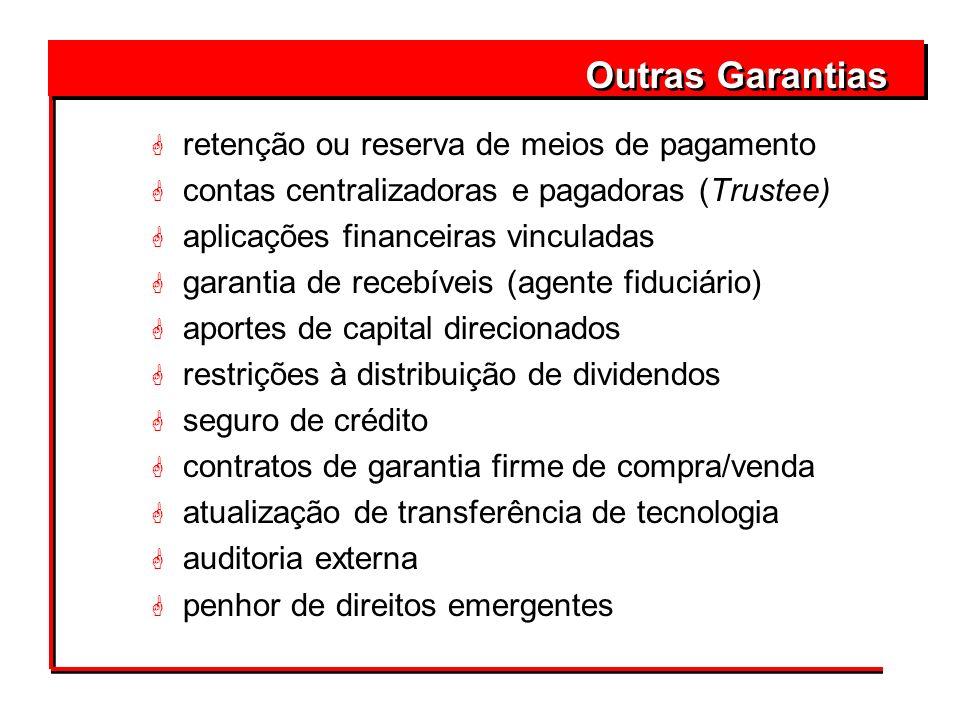 Outras Garantias retenção ou reserva de meios de pagamento